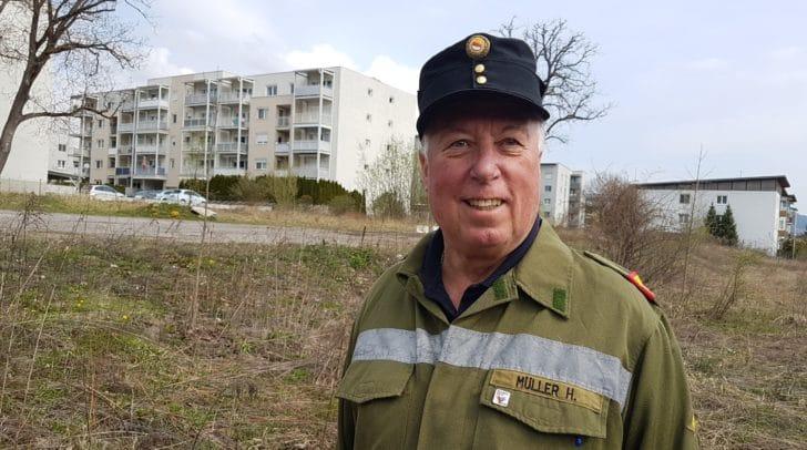 FF Perau Kommandant Horst Müller freut sich schon auf das neue Rüsthaus.