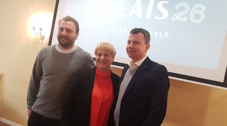 Direktorin Manuela Kaltenbrunner mit den Inhabern Andreas Hofmayer und Hansjörg Kofler