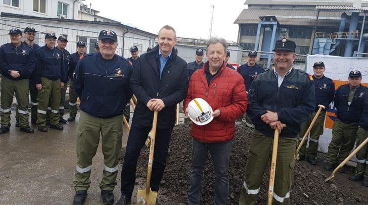 Freuen sich auf das neue Gebäude: Hans Wedam, Eric Gotschier, Erich Kessler und Michael Miggitsch