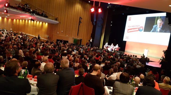 Voller Saal im Congress Center Villach beim 35. SPÖ-Parteitag.