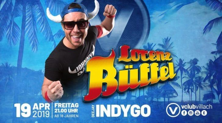 Am 19. April könnt ihr gemeinsam mit Lorenz Büffel so richtig im V-Club abfeiern!