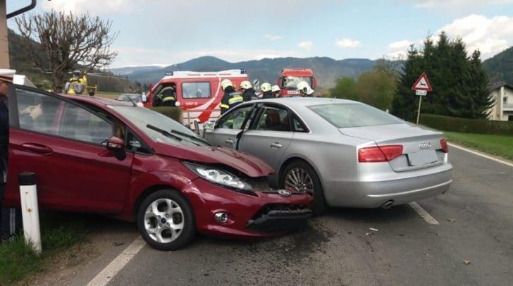 Unfall auf der Görtschitztal Bundesstraße im Gemeindegebiet von Brückl.