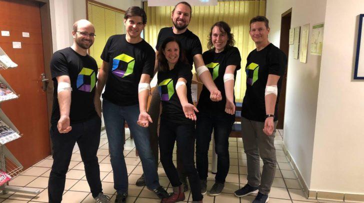 Die Dynatracer aus Klagenfurter spendeten ihr Blut für die soziale Aktion.