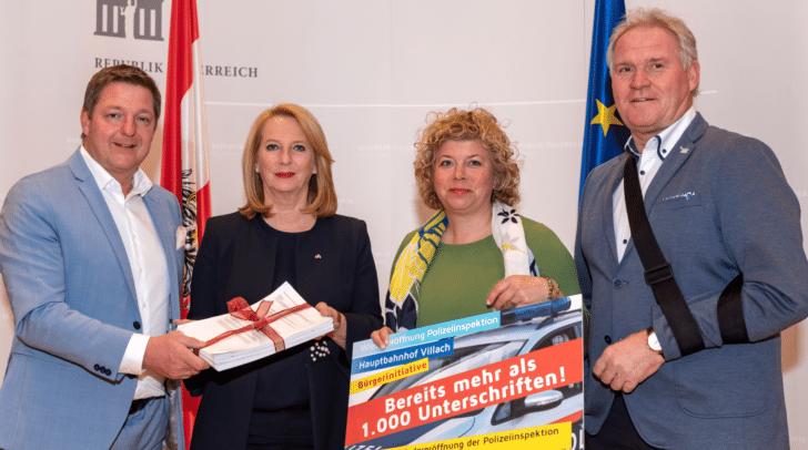 vlnr: Bürgermeister Günther Albel, 2. NR-Präsidentin Doris Bures, NR.in Irene Hochstetter-Lackner, NR Wolfgang Knes