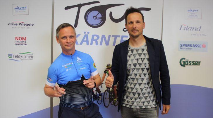 Tour de Kärnten Organisator Bernd Neudert und Ex-Profi und mehrfacher Tour de France- und Giro d'Italia-Teilnehmer Johnny Hoogerland.
