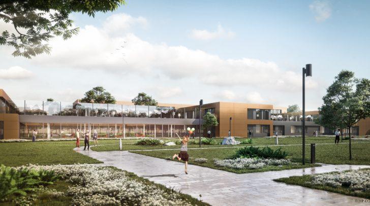 Neubau der Psychatrie: Die moderne Architektur entspricht den Bedürfnissen der Patienten.