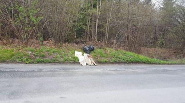 Sauerei: Große Müllsäcke werden einfach neben der Straße abgelagert.