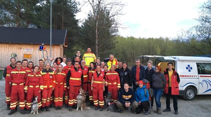 Die Österreichische Rettungshundebrigade bedankt sich recht herzlich für die kameradschaftliche gemeinsame Übung!