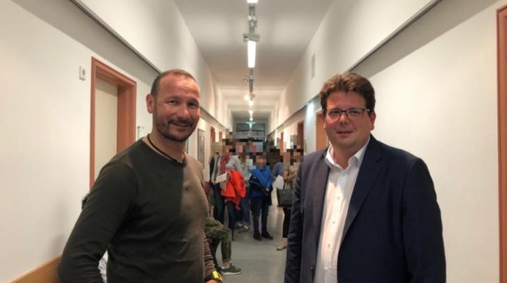 Mit dabei waren auch Leiter des Gesundheitsamtes Villach Martin Herzeg und Gesundheitsreferent Christian Pober