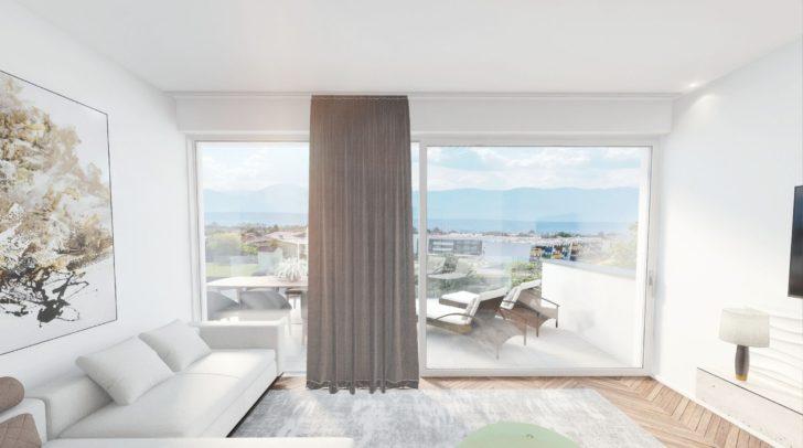 Im Penthouse hast du einen traumhaften Ausblick über Villach mit dem Mittagskogel im Hintergrund.