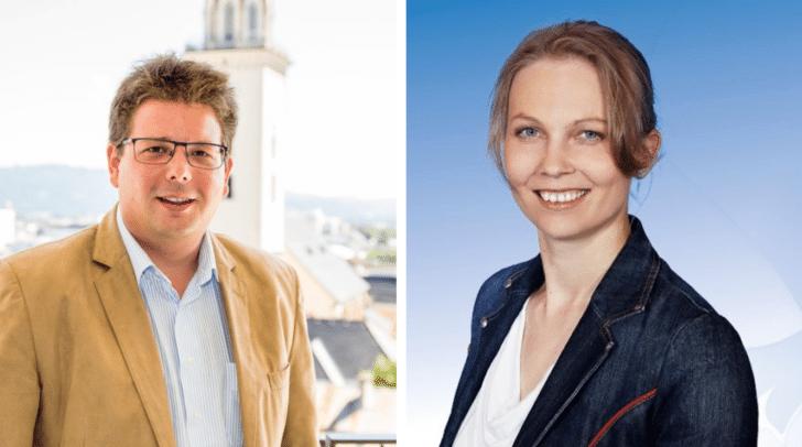"""Klubobmann Christian Pober (ÖVP) und Klubobfrau Katrin Nießner (FPÖ) fordern: """"Volkshäuser und Feuerwehrhäuser müssen parteiwerbefreie Zonen bleiben."""""""