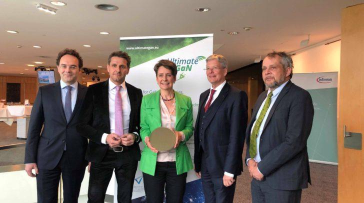 v.l.: Olivier Labinet, Andreas Urschitz, Sabine Herlitschka, Peter Kaiser und Michael Wiesmüller.