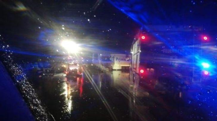 Der betroffene Autobahnabschnitt bei Velden war gestern Nacht für längere Zeit komplett gesperrt
