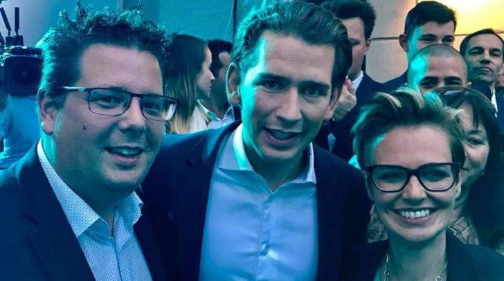 Der Villacher ÖVP-Klubobmann Christian Pober freute sich schon 2017 mit Bundeskanzler Sebastian Kurz und ÖVP-Stadträtin Katharina Spanring. Auch heute gibt es Grund zur Freude in der ÖVP.