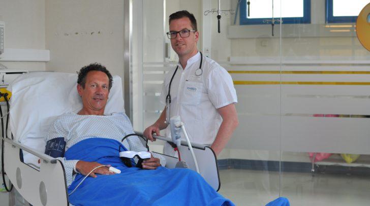 v.l.n.r.: Patient Anton Dietrichsteiner mit Dr. Müller-Muttonen