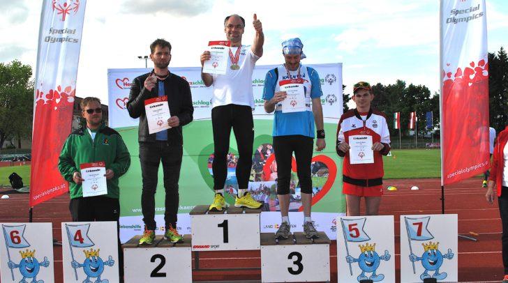 Markus Oberwinkler (Platz 1) dominierte die 100m- und 400m Laufbewerbe und gewann damit zwei österreichische Meistertitel.