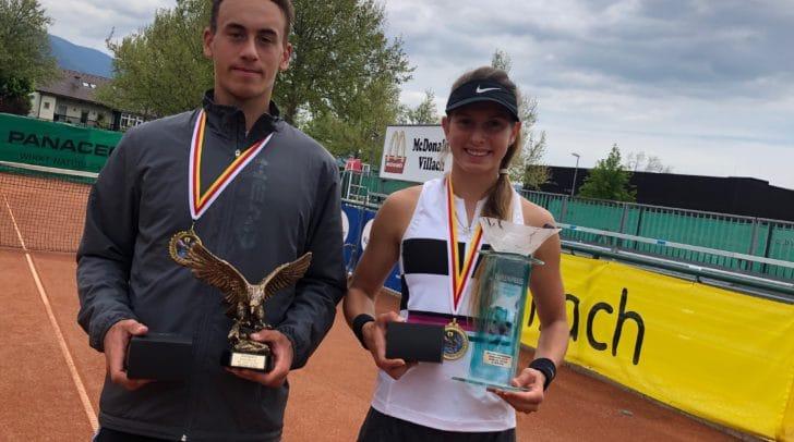 Siegten in Villach: Alexandra Vesic aus Deutschland und Peter Makk aus Ungarn.