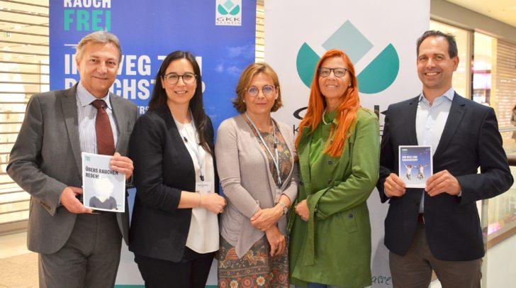 KGKK-Direktor Dr. Johann Lintner, Aliza Zwittnig, MBA, Dr. Elisabeth Kessler, Mag. Doris Müller (bfi Kärnten), KGKK-Chefarzt Dr. Ulrich Radda.
