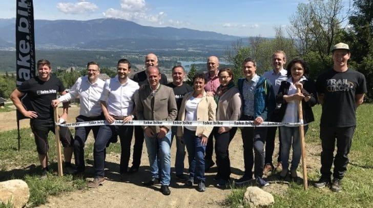Zwei neue Mountainbike-Trails in Finkenstein feierlich eröffnet.