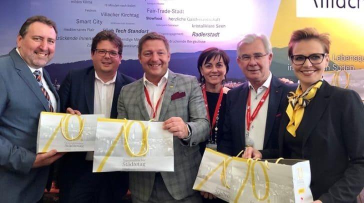 v.l.n.r.: Erwin Baumann, Christian Pober, Bgm. Günther Albel, Vizebgm. Petra Oberrauner, Harald Sobe und Katharina Spanring.