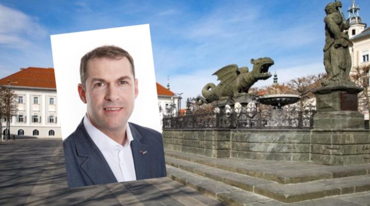 Stadtrat Markus Geiger bedankt sich bei den Wählern und Wählerinnen.
