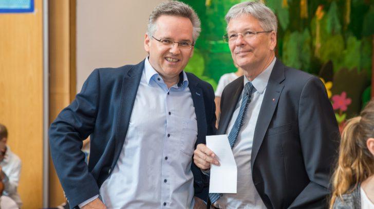 Bürgermeister Andreas Scherwitzl und Landeshauptmann Peter Kaiser bei der Vorstellung.