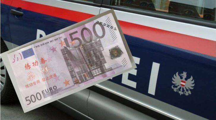 Mit dieser gefälschten Banknote wollte der 40-Jährige im Geschäft bezahlen.