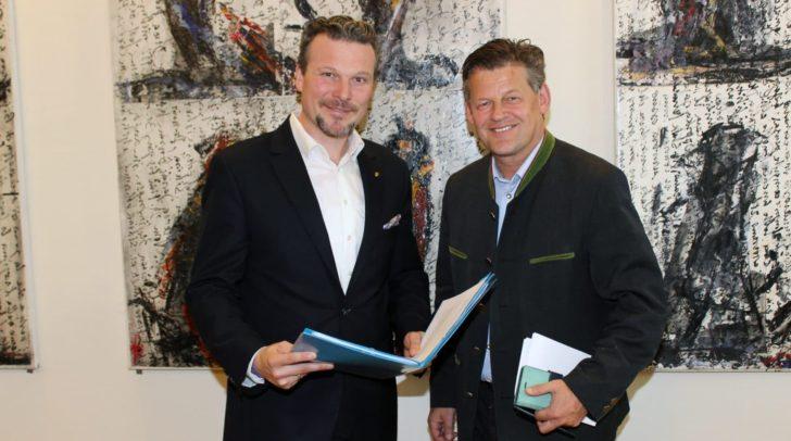 Entsorgungsreferent Vzbgm. Wolfgang Germ und Straßenbaureferent Stadtrat Christian Scheider informierten über aktuelle Projekte aus ihren Ressorts.
