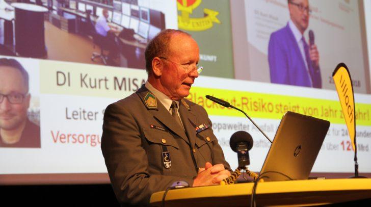 Villach im Dialog: Blackout-Experte Oberst Gottfried Pausch referierte.