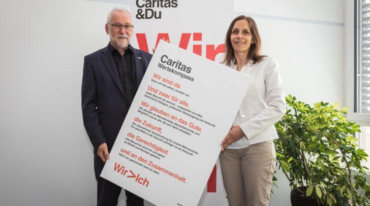 Caritasdirektor Josef Marketz und kaufmännische Geschäftsführerin Marion Fercher