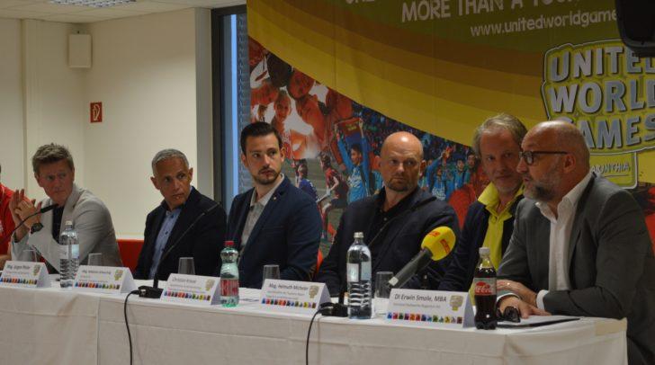 Details zu den 15. United World Games wurden bei einer Pressekonferenz von Verantwortlichen der UNITED WORLD GAMES, der Stadt Klagenfurt und des Landes Kärnten präsentiert.