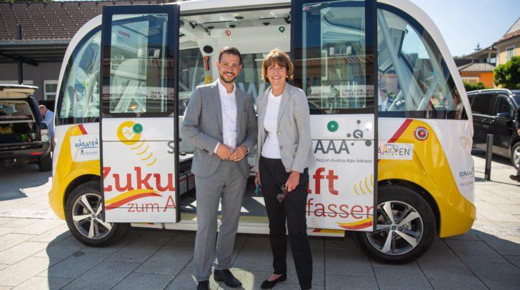 Seit Ende Mai 2019 ist der elektrische Navya-Kleinbus wieder im Einsatz.