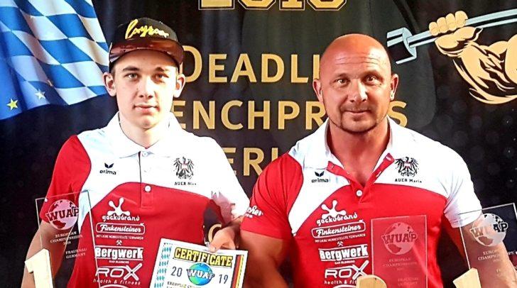 Nico & Mario Auer sind Europameister im Bankdrücken!