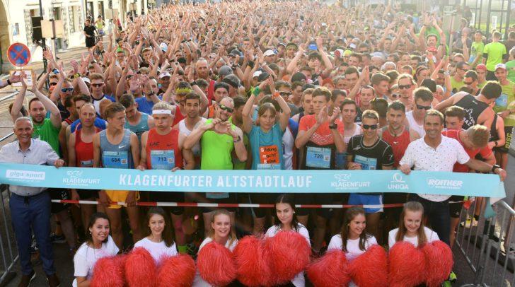1.850 Teilnehmer verwandelten die Klagenfurter Altstadt am Donnerstag in eine Freiluftlaufarena.