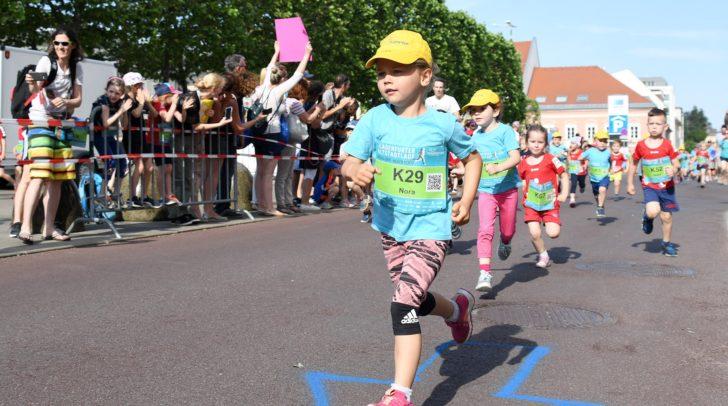 Die Kinder hatten 200 Meter zu bewältigen.