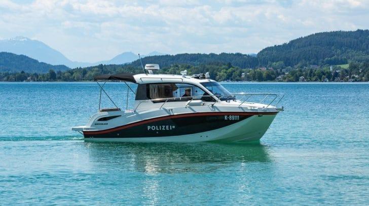 Ab sofort sind die Polizisten am Wörthersee mit dem modernsten Polizeiboot Kärntens unterwegs.