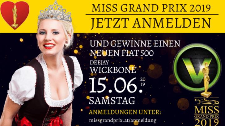 Melde dich jetzt an und werde zur Miss Grand Prix 2019 gekürt!