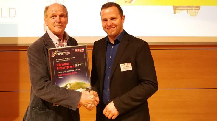 SICO Technology Geschäftsführer Walter Nadrag und Bürgermeister Christian Hecher.