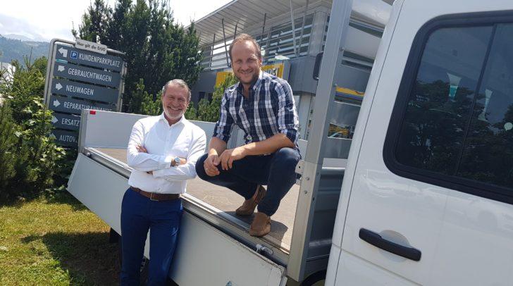 Kadir Metin und Mario Kogler (von links) von Eisner Auto Südring sind die Ansprechpartner, wenn es um Mobilität für Unternehmen geht.