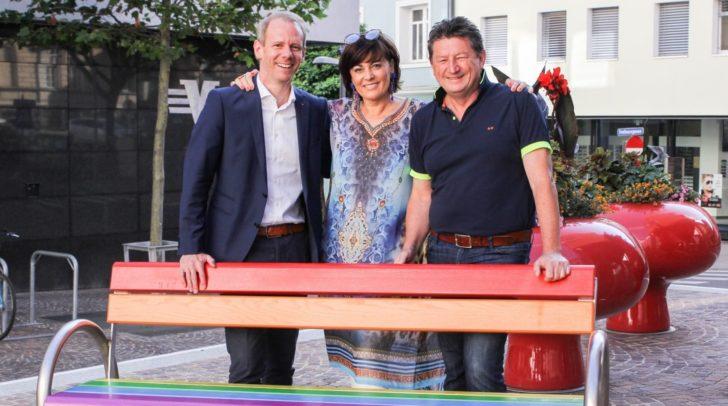 Vizebürgermeisterin Petra Oberrauner und die Gemeinderäte Andreas Sucher (links) und Klaus Frei.