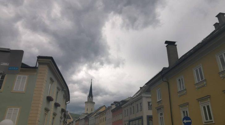 Auch in Villach braut sich ein Gewitter zusammen.
