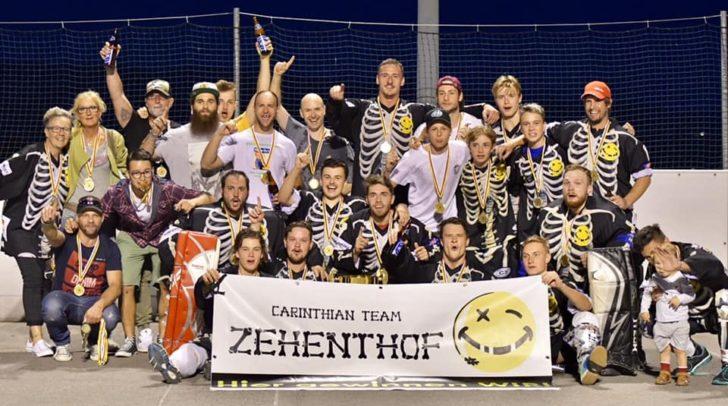 Der Kärntner Ballhockeymeister ist erstmals das Team Zehenthof!