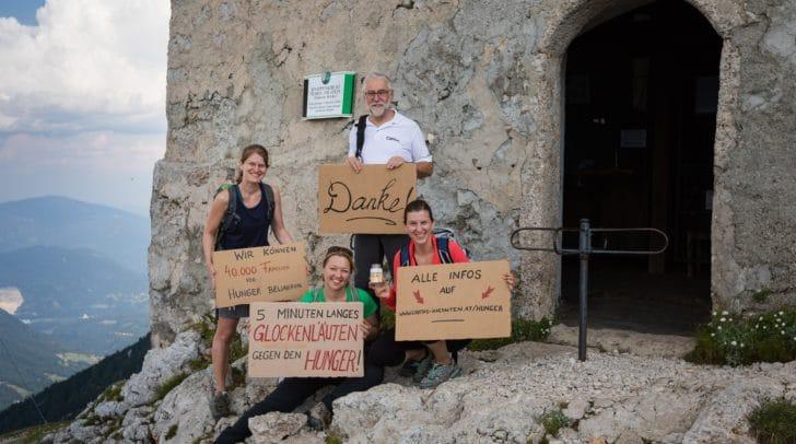 Caritasdirektor Josef Marketz machte in Europas höchstgelegenen Wallfahrtskirchen auf den Hunger in der Welt aufmerksam und dankt für jede Unterstützung.
