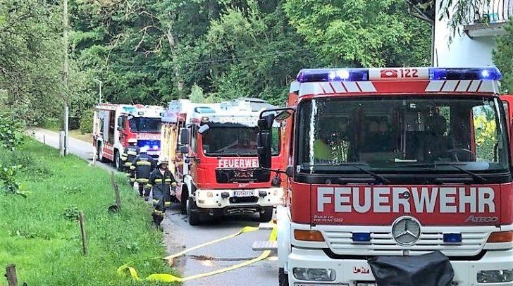 Mehrere Feuerwehren waren beim Kellerbrand im Einsatz.