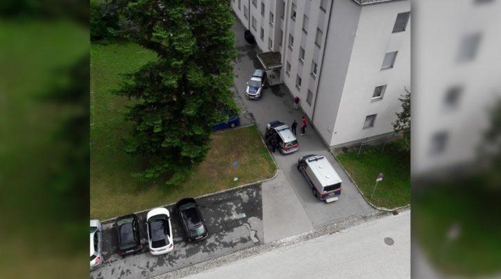 Ein Mann hatte versucht in ein Haus einzubrechen.