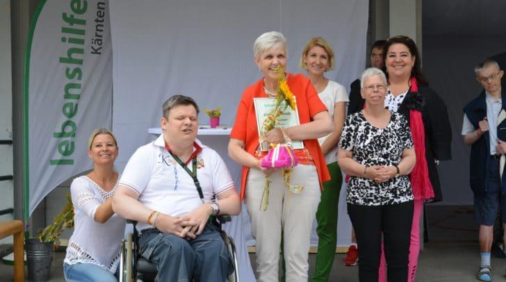 Doris Köstinger leistet schon seit der Gründung der Werkstätte Bahnstraße vor 21 Jahren hier ihre Beschäftigung.
