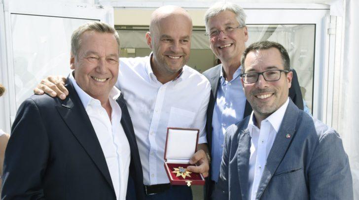 Roland Kaiser, Martin Ramusch, LH Peter Kaiser und LAbg.Markus Malle