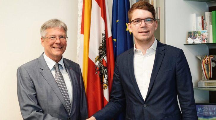 LH Peter Kaiser und Zentralverbandschef Manuel Jug