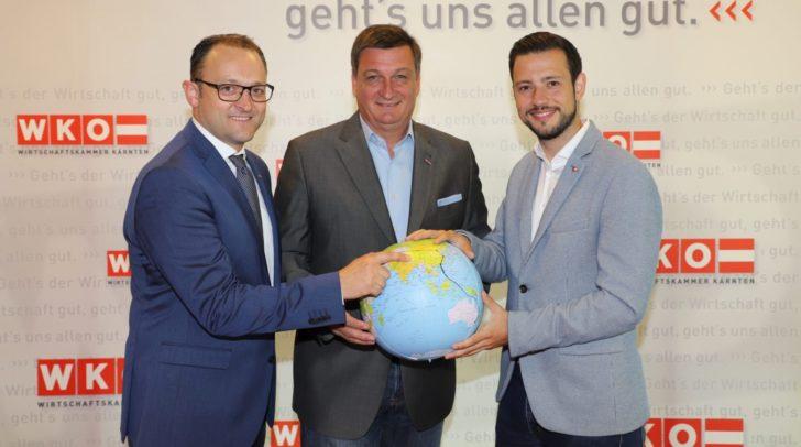 v.l.n.r.: Meinrad Höfferer ( WKK), Jürgen Mandl (WKK) und LR Sebastian Schuschnig.