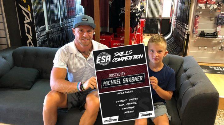 NHL-Star Michi Grabner ist Gasttrainer beim ESA Junior Hockey Camp von 17. bis 21 Juli in der Vilacher Stadthalle.